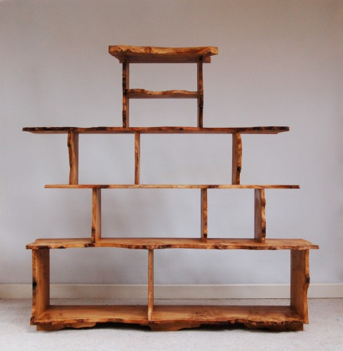 waney edge bookcase